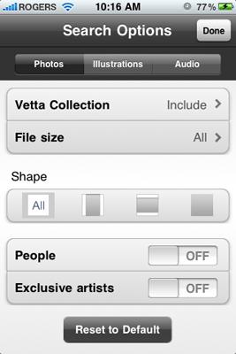 Теперь iStockphoto и на iPhone