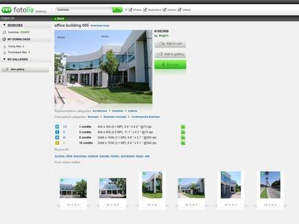 Бесплатное Desktop приложение от фотобанка Fotolia