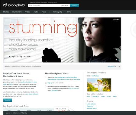 Новый дизайн фотобанка iStockphoto