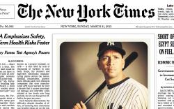 Фотография из Instagram помещена на первой полосе The New York Times