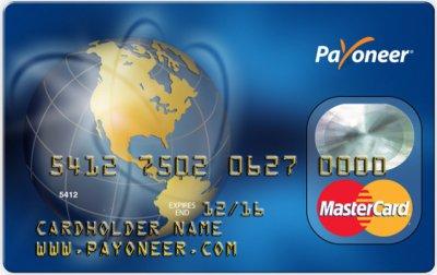 Пластиковая карта Payoneer