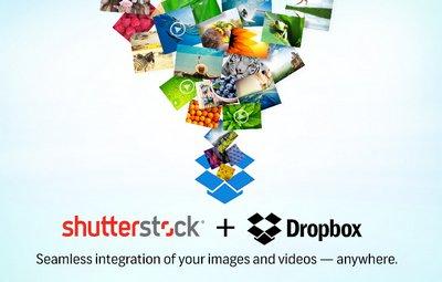 Интеграция между Shutterstock и Dropbox.
