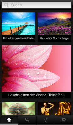 Приложение для iPhone от Shutterstock ещё на двух языках.