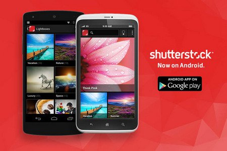 Первое Android приложение от фотобанка Shutterstock